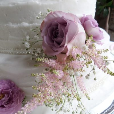Lilac Wedding Cake Flower Arrangement