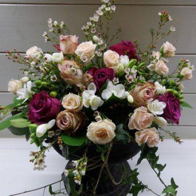 Muted Nudes Wedding Flower Arrangement