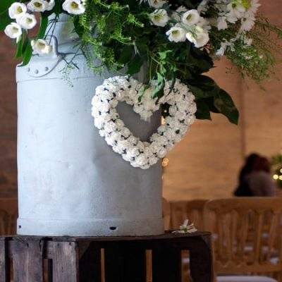 Wonderful Whites Wedding Flower Arrangement