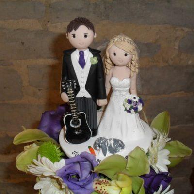Flower Decorations on Wedding Cakes