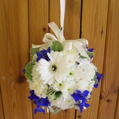 Blue Bridal Flowers Bridesmaid