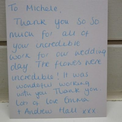 Thank You Cards from Someflower Clients